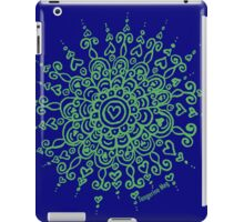 Heart Centred Mandala - green print iPad Case/Skin