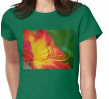 Ruby Spider Day Lily Womens Fitted T-Shirt