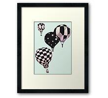 Pastel Skies Hot Air Balloon Rides Framed Print