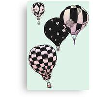 Pastel Skies Hot Air Balloon Rides Canvas Print
