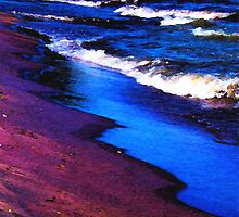 Lake Erie Abstract by Shawna Rowe