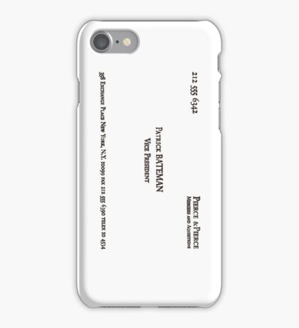 Patrick Bateman's Card iPhone Case/Skin