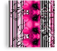 Floral Stripe Canvas Print