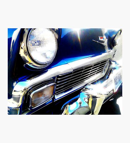 Rockabilly Blue Photographic Print