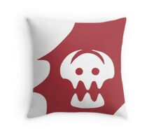 HTTYD Toothless's Tail&Hiccups Skull logo Throw Pillow