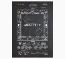Monopoly Board Game US Patent Art 1935 Blackboard T-Shirt