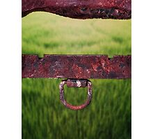 Rusted metal object Photographic Print