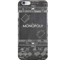 Monopoly Board Game US Patent Art 1935 Blackboard iPhone Case/Skin