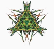 Energetic Geometry-  Abstract Pentacle Symbol for Earthen Connection One Piece - Long Sleeve