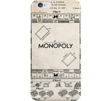 Monopoly Board Game US Patent Art 1935 iPhone Case/Skin