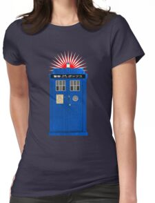 Japanese TARDIS Womens Fitted T-Shirt