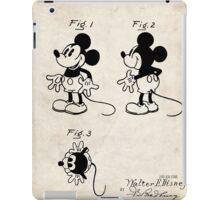 Mickey Mouse US Patent Art Walt Disney Cartoon 1930 iPad Case/Skin