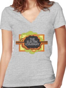 Electric Company Women's Fitted V-Neck T-Shirt