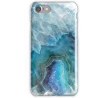 Blue Watercolor Agate Geode Print iPhone Case/Skin