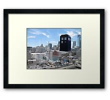 TARDIS Over Philly Framed Print