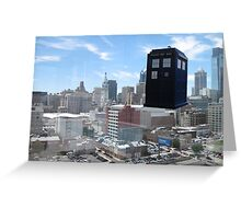 TARDIS Over Philly Greeting Card