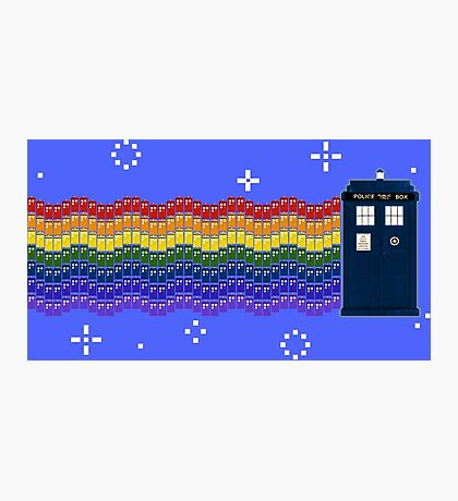 Rainbow TARDIS Photographic Print