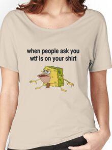 Spongebob Caveman Meme Shirt Women's Relaxed Fit T-Shirt