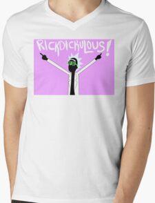 RICKDICKULOUS! - White Mens V-Neck T-Shirt