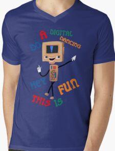 Digital world Colin Mens V-Neck T-Shirt