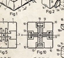 Rubik's Cube Toy Puzzle 1983 US Patent Art Sticker