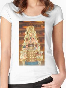 Dalek Christmas Women's Fitted Scoop T-Shirt