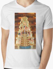 Dalek Christmas Mens V-Neck T-Shirt