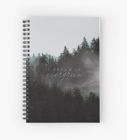 evergreen dream Spiral Notebook