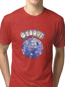 70s disco ball groovy Tri-blend T-Shirt