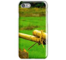 Green fields, bamboo fences, outside Chiang Mai, Thailand iPhone Case/Skin