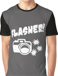 Flasher Funny Photograph Graphic T-Shirt