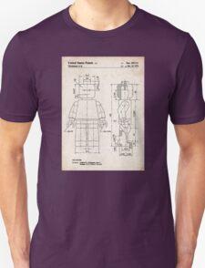 Lego Minifigure US Patent Art T-Shirt