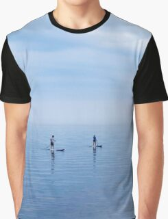 Couple Paddleboarding on Lake Ontario Graphic T-Shirt