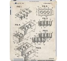Lego Toy Blocks US Patent Art iPad Case/Skin