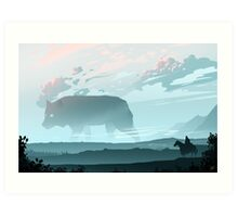 Following The Wolf of Winter Art Print