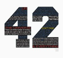 Hitchhiker's Guide 42 Quotes One Piece - Short Sleeve