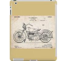 Harley Davidson Motorcycle US Patent Art 1928 iPad Case/Skin