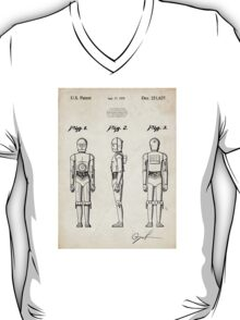 Star Wars C3PO Robot US Patent Art T-Shirt