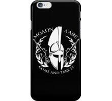 molon labe come and take it iPhone Case/Skin