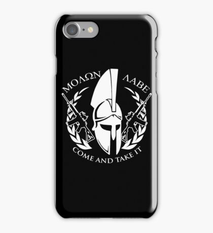 molon labe come and take it iPhone Case/Skin
