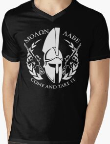 molon labe come and take it Mens V-Neck T-Shirt