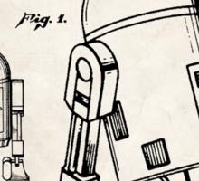 Star Wars R2D2 Droid US Patent Art Sticker