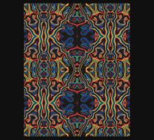 Tribal Visions Psychedelic Abstract Pattern 1 One Piece - Long Sleeve