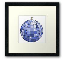 sparkly blue disco ball Framed Print
