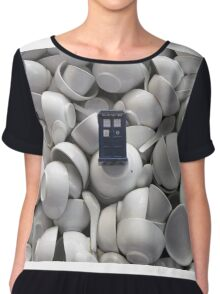 Bowl of TARDIS Chiffon Top