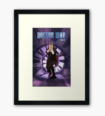 Crouching Capaldi Framed Print