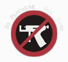No Piercing Gun Zone! Kids Tee