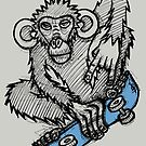 Monkey Skateboard by Brett Gilbert