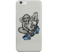 Monkey Skateboard iPhone Case/Skin