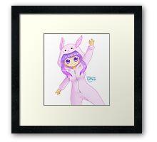 Cute Bunny Girl Framed Print